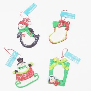 NEW Celebrate It Christmas ornaments set of 4
